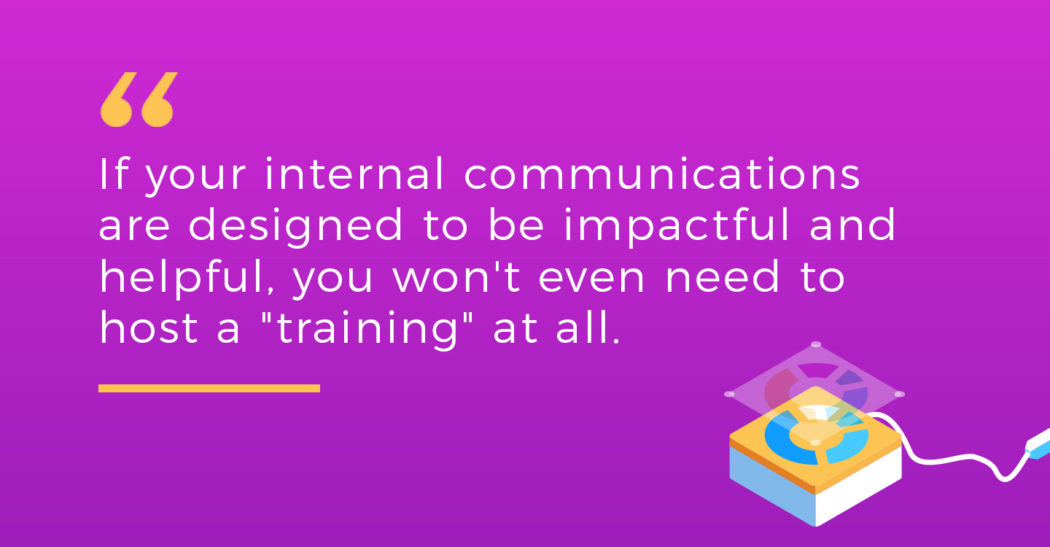 Pull quote for employee training