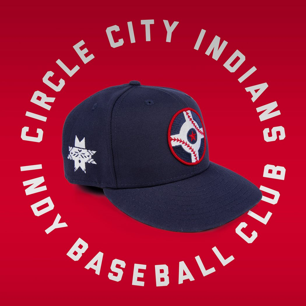 f102c976a Indianapolis Indians Take Field In Borshoff-Designed Circle City Hat ...